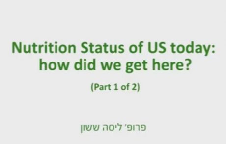 Prof. Lisa Sasson – Nutrition Status of US Today: How Did We Get There – 1/2