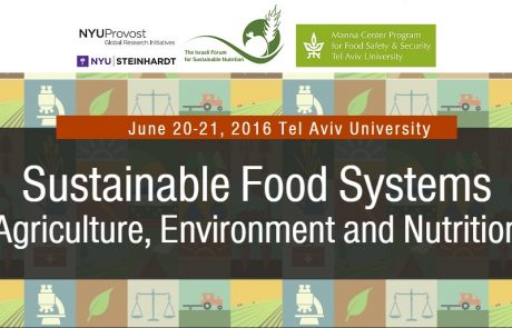 20-21 ליוני, כנס מערכות מזון בנות קיימא: חקלאות, סביבה ותזונה
