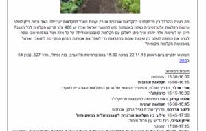 שילוב חקלאות אלטרנטיבית באספקת מזון בישראל, מפגש מס׳ 16 – נובמבר 2015 מפגשי הפורום שילוב חקלאות אלטרנטיבית באספקת מזון בישראל